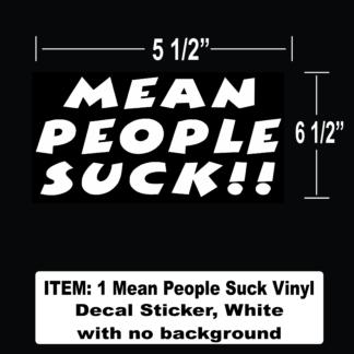 Mean People Suck